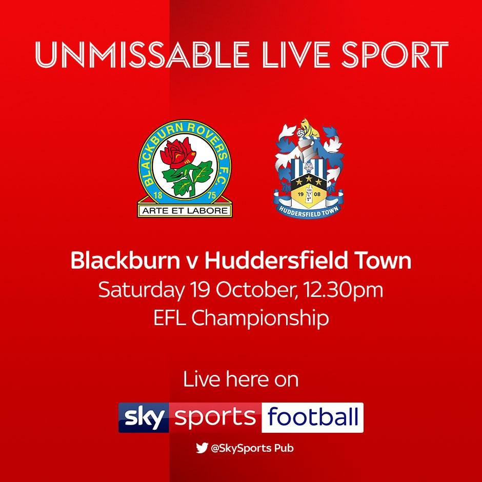 Blackburn Rovers v Huddersfield Town (Football League)
