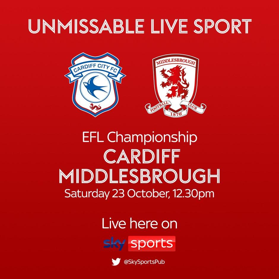 Cardiff City v Middlesbrough (Football League)
