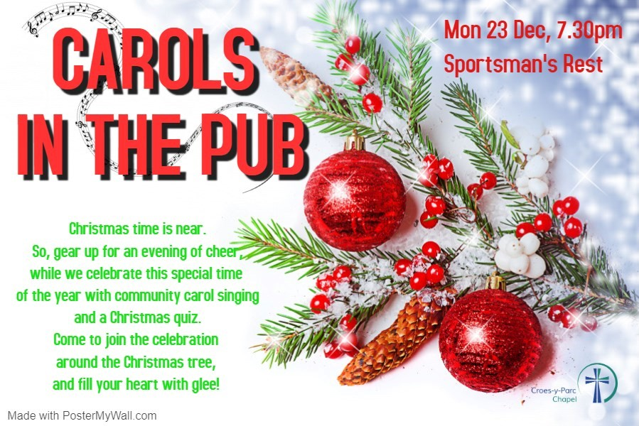 Christmas Carols & Quiz with Croes-Y-Parc Chapel