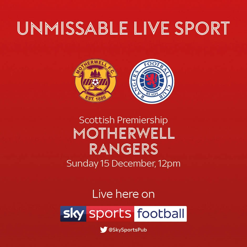 Motherwell v Rangers (Scottish Premier League)
