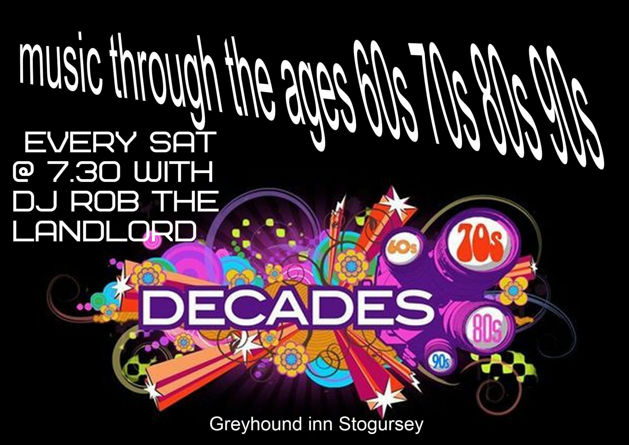 Decades music with DJ Rob