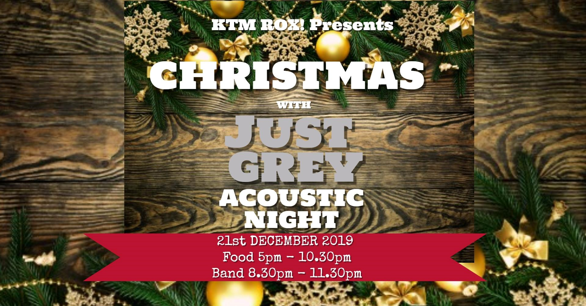 Christmas with Just Grey Acoustic Night