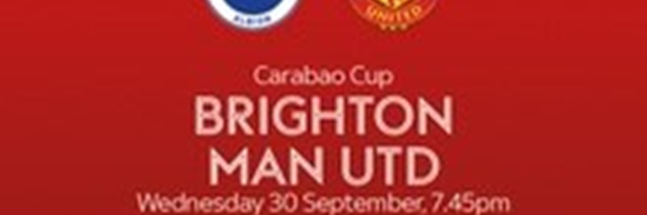 Brighton and Hove Albion v Manchester United (EFL Cup)