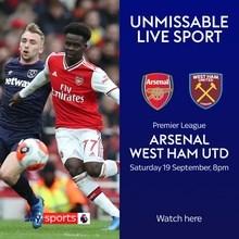 Arsenal v West Ham United (Premier League)