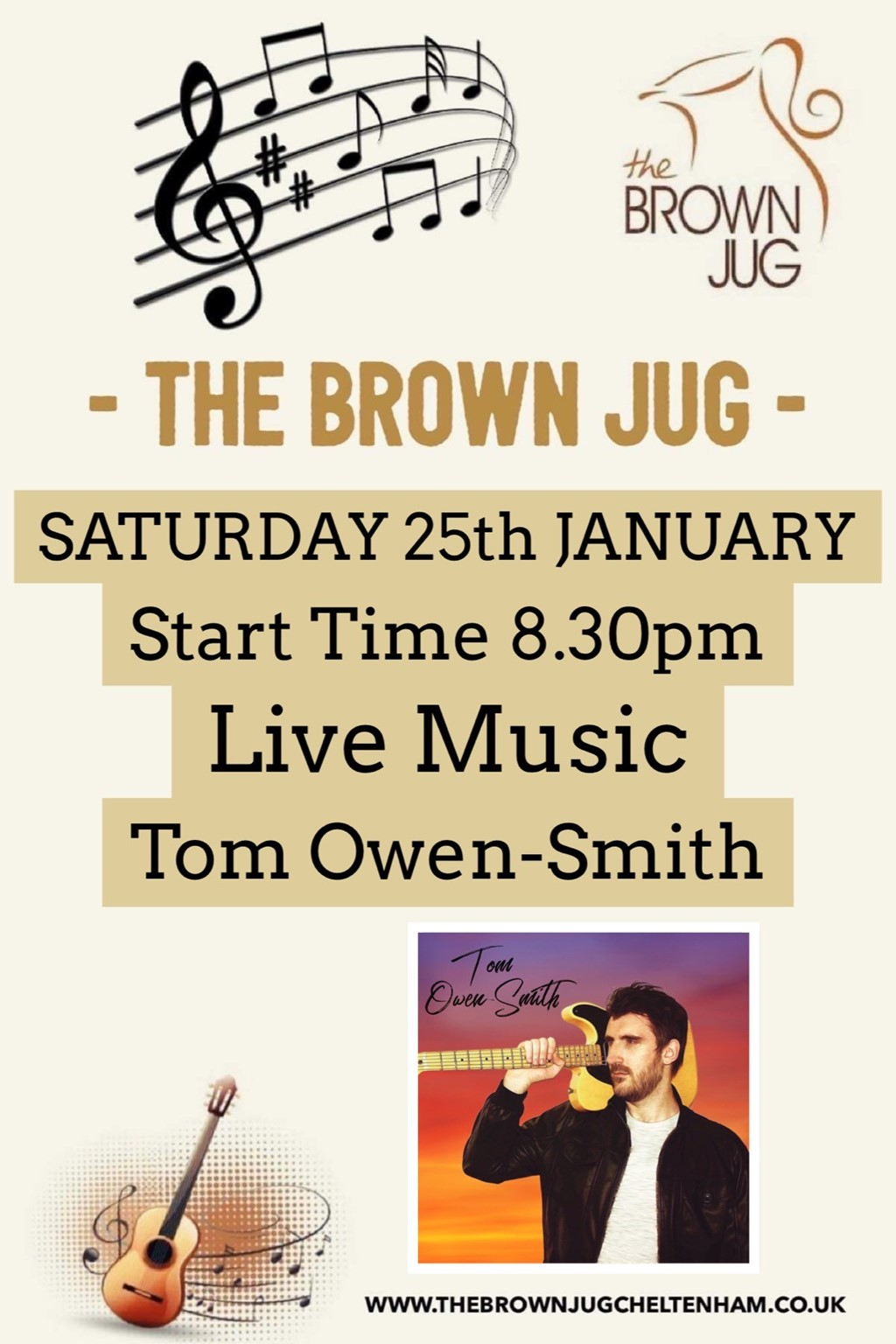 LIVE at the Brown Jug: Tom Owen-Smith