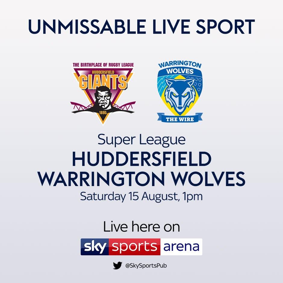 Huddersfield Giants v Warrington Wolves. (Rugby League - Super League)