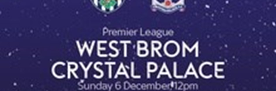 West Bromwich Albion v Crystal Palace (Premier League)