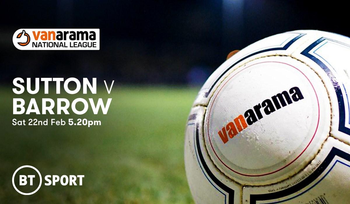 Sutton United v Barrow (Football League)