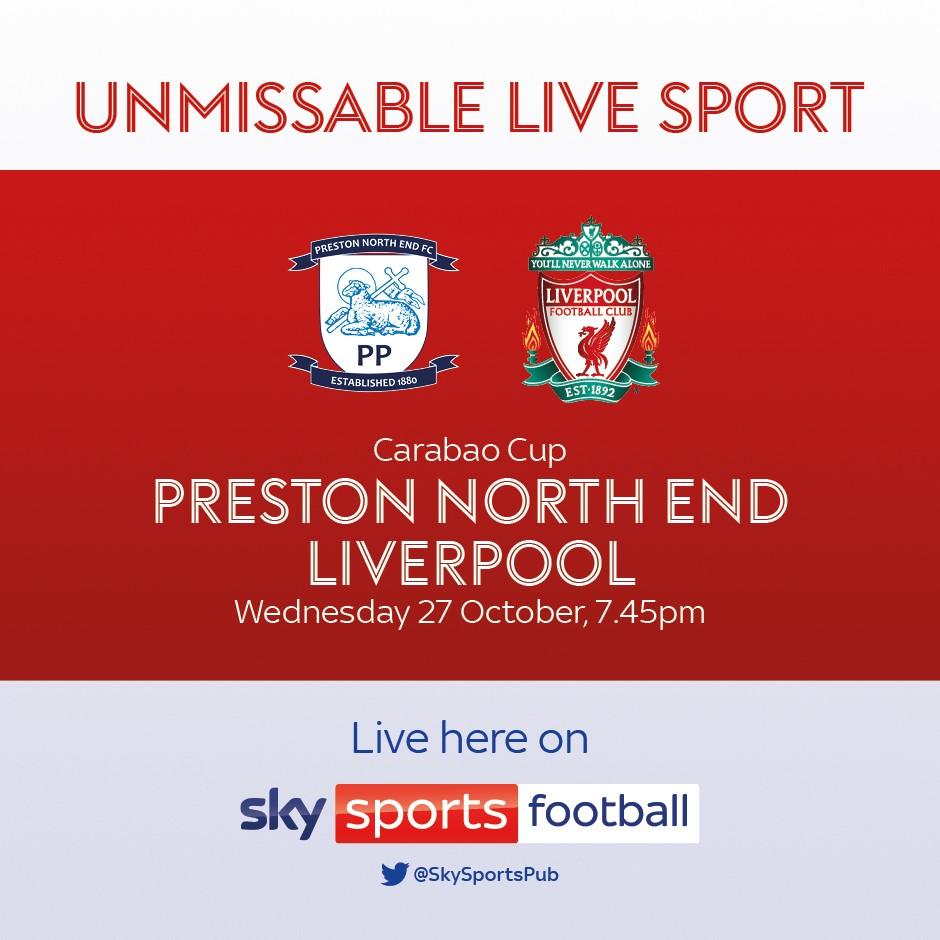 Preston North End v Liverpool (EFL Cup)
