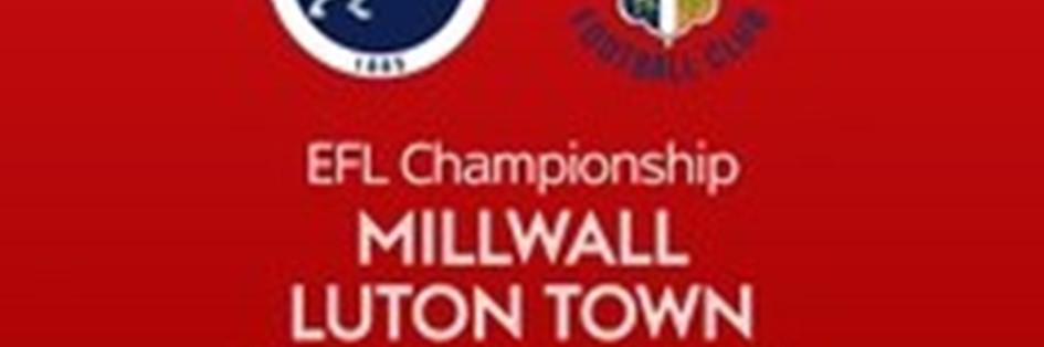 Millwall v Luton Town (Football League)