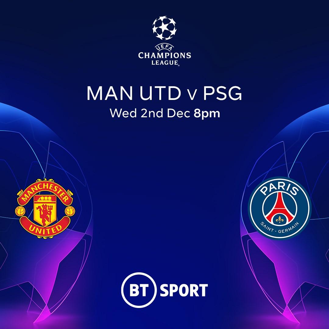 Manchester United v PSG (Champions League)