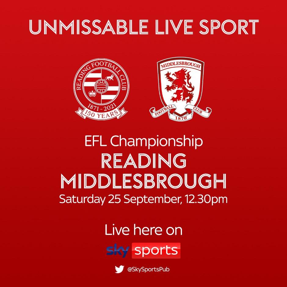 Reading v Middlesbrough (Football League)