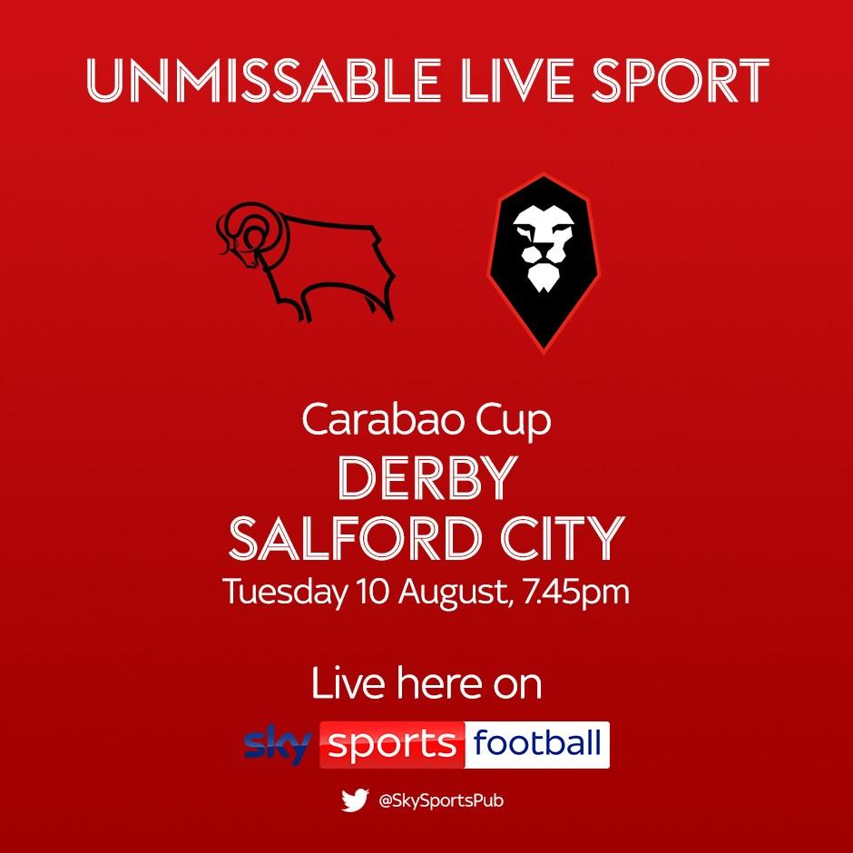 Derby County v Salford City (EFL Cup)
