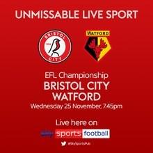 Bristol City v Watford (Football League)