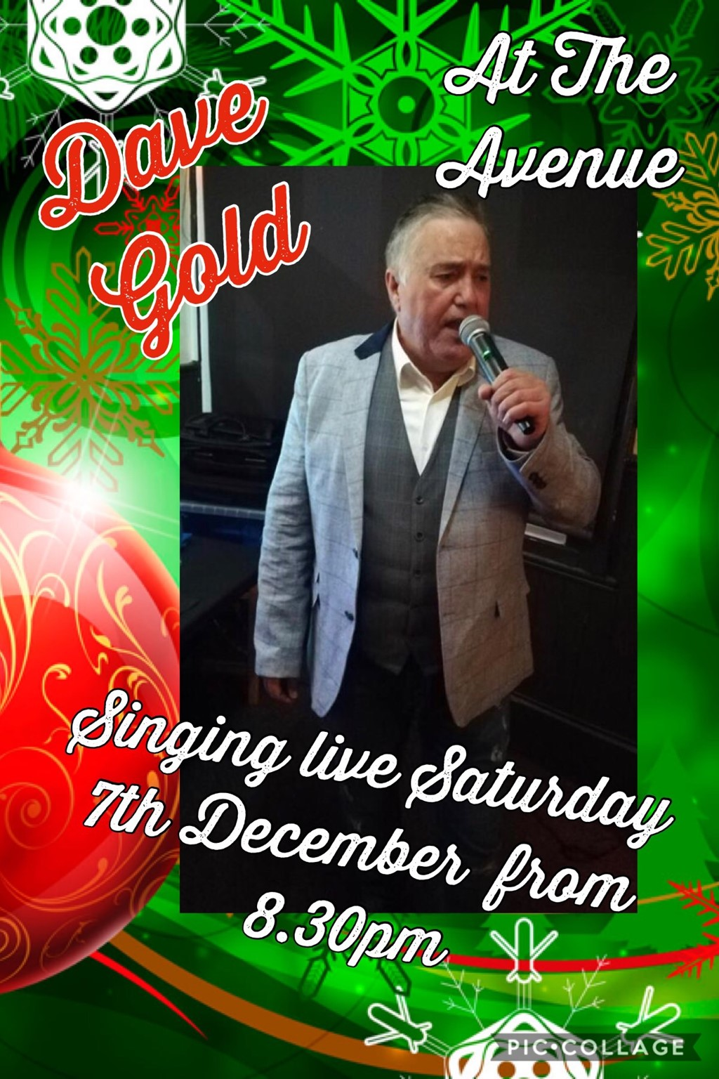 Dave Gold singing live!