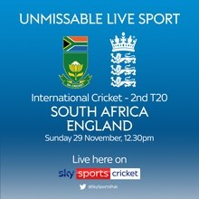 Cricket International T20: South Africa v England (Cricket England England T20)