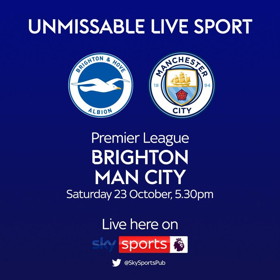 Brighton & Hove Albion v Manchester City (Premier League)