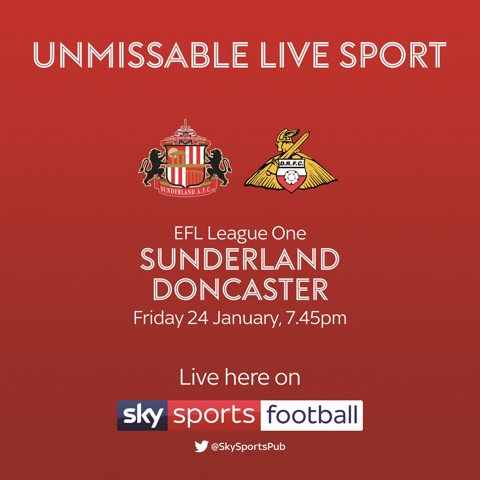 Sunderland v Doncaster Rovers (Football League)