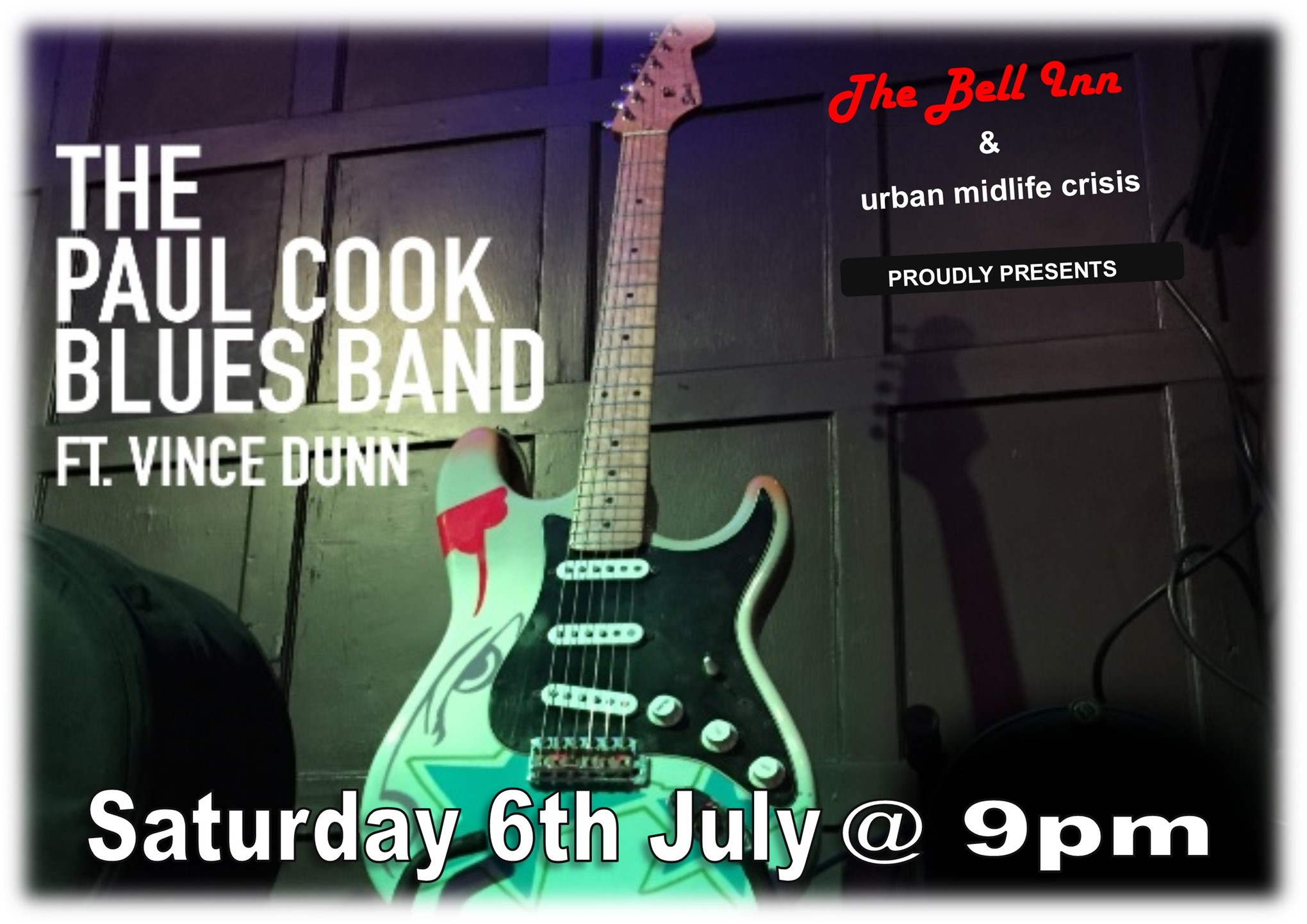 Saturday Blues Club with The Paul Cook Blues Band