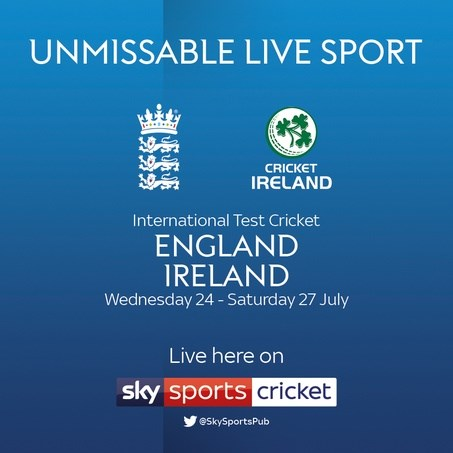 Cricket Test Match: England v Ireland (Cricket England Test Match)
