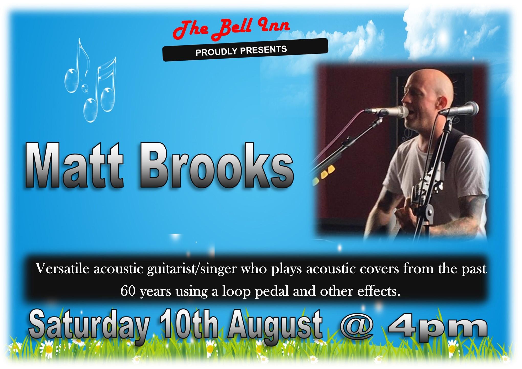 Live music with Matt Brooks