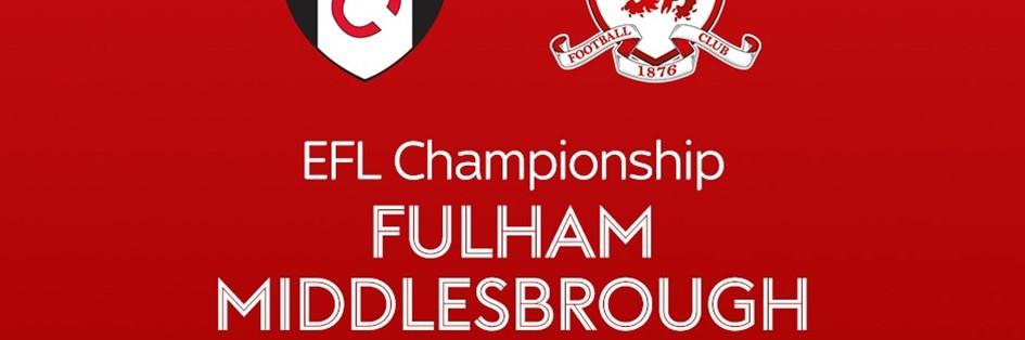 Fulham v Middlesbrough (Football League)