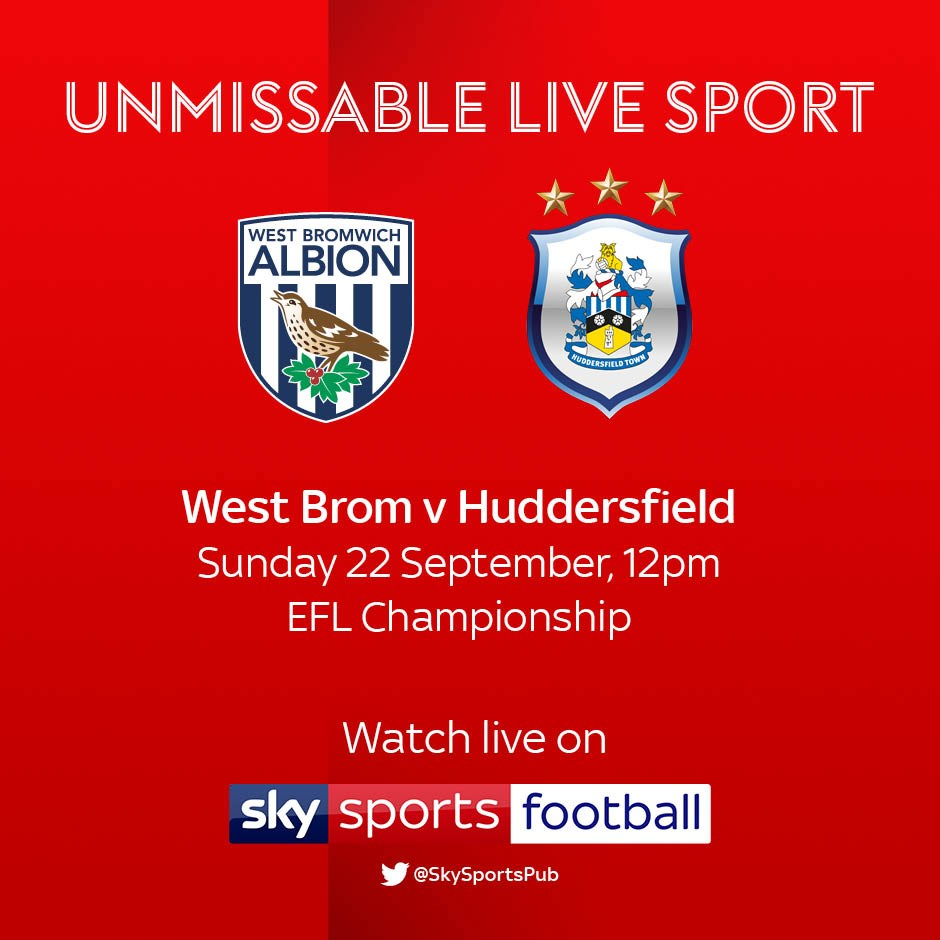 West Bromwich Albion v Huddersfield Town (Football League)