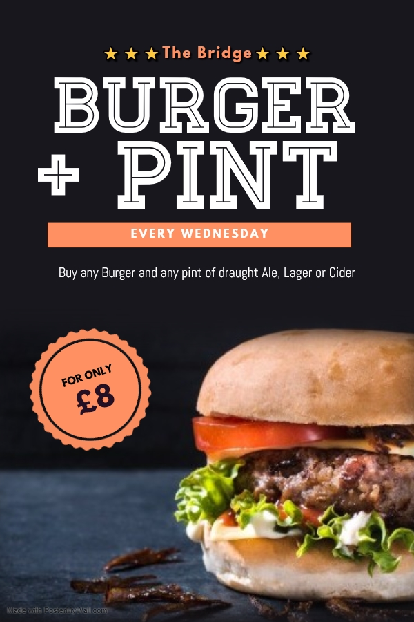 Burger + Pint Deal