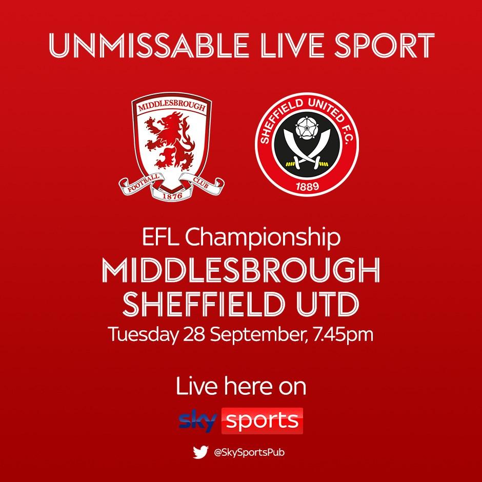 Middlesbrough v Sheffield United (Football League)