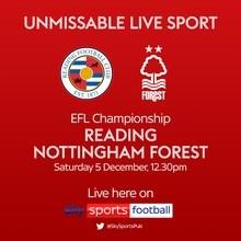 Reading v Nottingham Forest (Football League)
