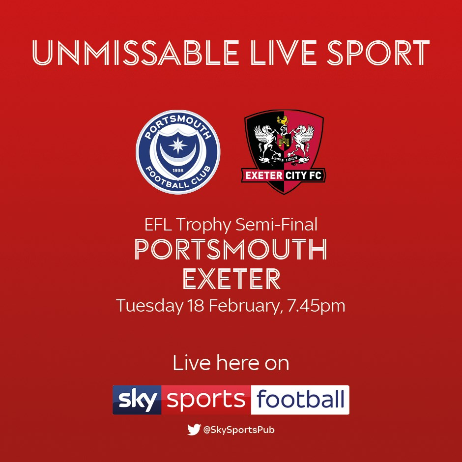 Portsmouth v Exeter City (Football League)