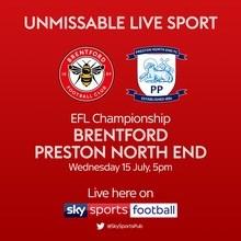 Brentford v Preston North End (Football League)