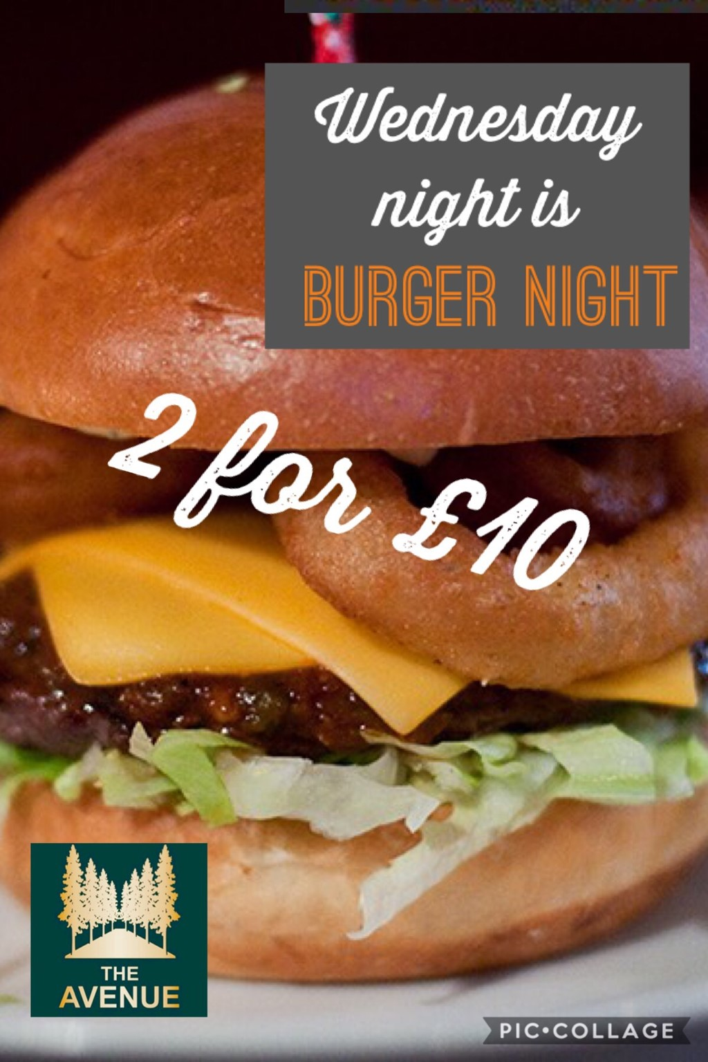 Burger night 2 for £10